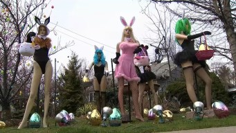 Homeowner Vows to Resurrect Scantily-Clad Easter Bunny Display That Neighbor Demolished