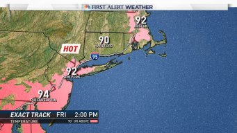 Temperatures Near 90 Degrees Friday