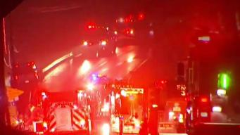 Crews Battle House Fire on Route 148 in Killingworth