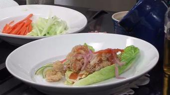 Crisp Fried Calamari Lettuce Wraps