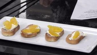 Orange-Grand Marnier Crostini with Vanilla Mascarpone