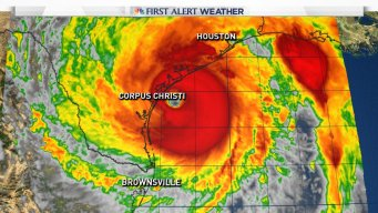 Harvey Making Landfall