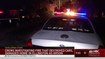 Ellington Car Fires Investigated as Arson
