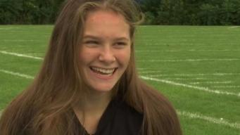 Ellington Girl Joins JV Football Team as Wide Receiver
