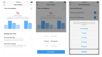 Facebook, Instagram Are Getting Time-Management Tools
