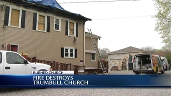 Fire Destroys Trumbull Church