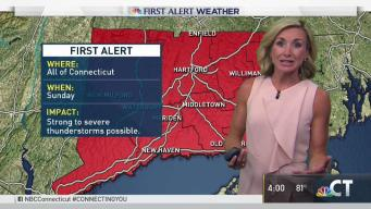 First Alert Issued for Sunday