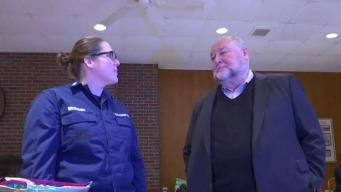 Former Coast Guard Commandant Visits Coast Guard Academy