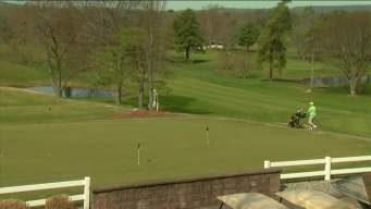 Golfers Out and Enjoying a Warm Spring Day