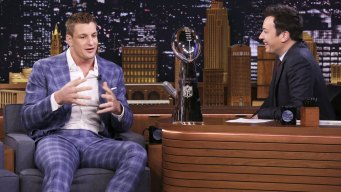 Gronk Says He Was Hit by Beer Can During Super Bowl Parade