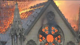 Historic Notre Dame Cathedral Gutted by Fire