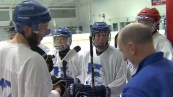 Hall/Southington Hockey Brings 4 Generations of Alumni Together for Coach