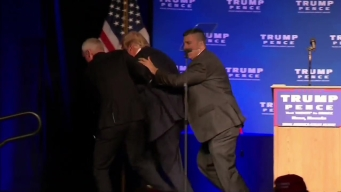 Donald Trump Rushed Off Stage in Nevada