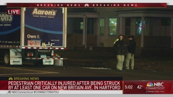 Man Hit by 2 Vehicles in Hartford