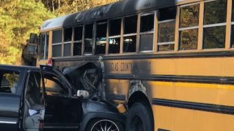 Driver Pulls Kids From Burning Bus