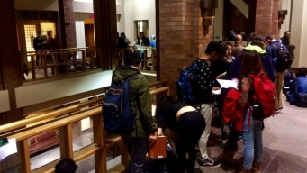 Long Lines for Same-Day Registration in New Haven