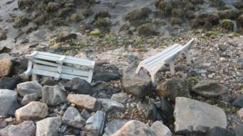 Reward Offered for Info on Niantic Boardwalk Bench Vandals