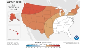 NOAA Predicting Warmer Than Average Winter for Conn.