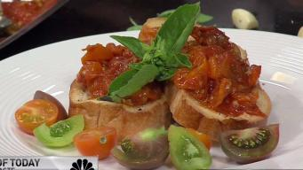 Oven Roasted Heirloom Tomato Crostini