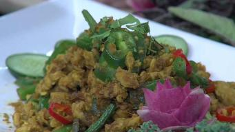 Pad Kaprow With Ground Chicken with Holy Basil