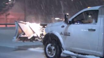 Plow Crews Hit the Street for First Snowstorm