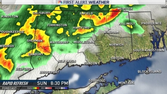 Thunderstorms Roll in Sunday Night, Rain Clears for Monday