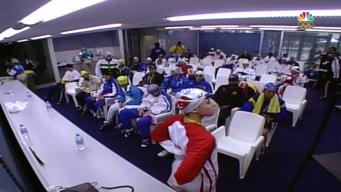 Before Competing, Olympic Swimmers Wait in the Ready Room