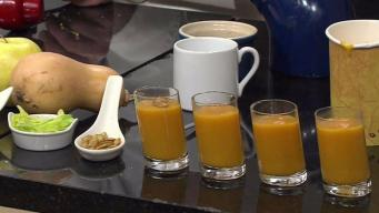 Roasted Butternut Squash Soup and Apple Soup Shots