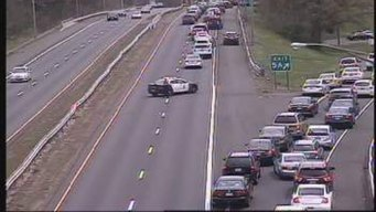 Route 2 East in East Harford Shut Down After Rollover Crash