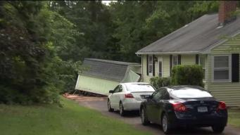 SUV Crashes Into Shed in Southington