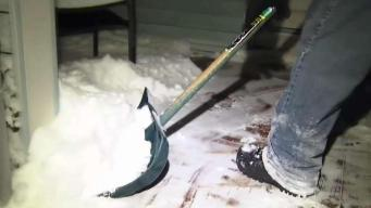 Shoveling Heavy Snow Poses Health Risks
