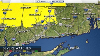 Severe Thunderstorm Watch for Hartford, Litchfield Counties