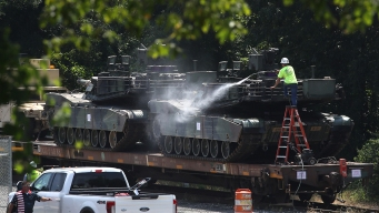 Tanks, Fighters Readied for Trump's July 4 Military Salute