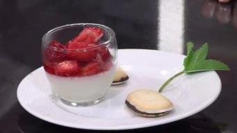 Vanilla Bean Panna Cotta with Native Strawberries