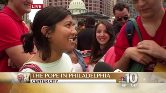 Crowds Gather At Checkpoints to See Pope Francis