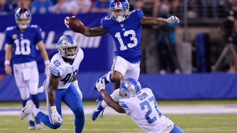 Stafford Throws for 2 TDs as Lions Beat Beckham, Giants
