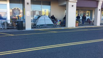 Shoppers Camp Out For Black Friday Deals