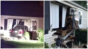 Car Crashes into East Hartford Home