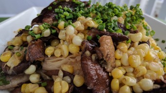 Sweet Corn and Shiitake Mushrooms
