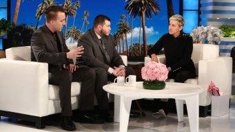 Vegas Security Guard Opens Up on 'Ellen' About Mass Shooting