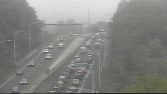 Memorial Day Traffic: Cars Moving on I-95 in Old Lyme