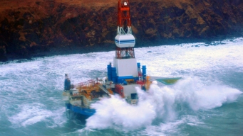 Oil Rig Runs Aground in Alaska