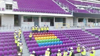 Orlando Soccer Team Unveils Rainbow Seats as Pulse Memorial