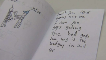 Student Writes Note Thanking NYPD Officer for 'Getting the Bad Guy'