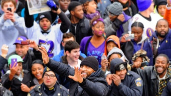 Thousands of Fans Celebrate Ravens Super Bowl Win