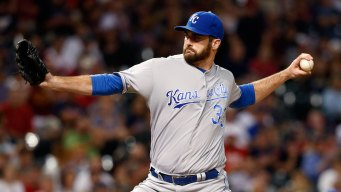 Royals Reliever Flynn Injured Falling Through Barn Roof