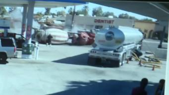 Dramatic Video Shows Cement Truck Overturn