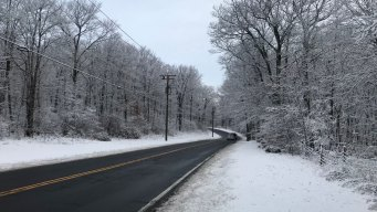 Snow Causes Slippery Morning Commute