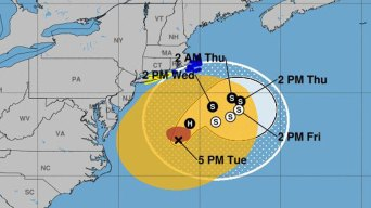 Gusty Winds, Rain in Connecticut as Jose Approaches