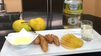 Connecticut Pear Fritters With a Poire William Sauce